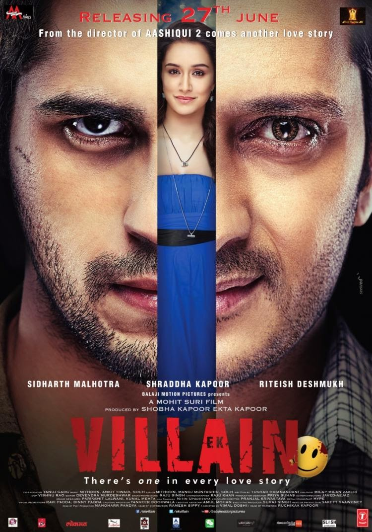 Shraddha, Sidharth, Riteish in the new poster of Ek Villain