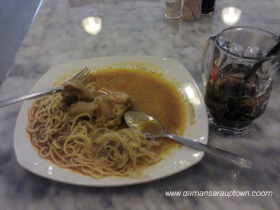 dry curry noodles from Mr. Fatty Restaurant