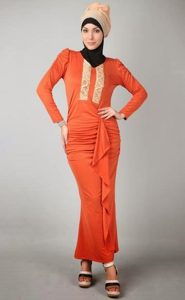 Gamis Maxi Renda Kreasi Desain Busana Muslim Trendy