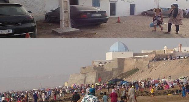 اشتوكة : فوضى بشاطئ سيدي وساي والدرك الملكي في سبات عميق