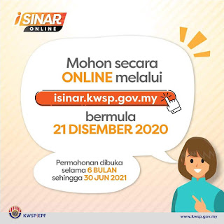 kwsp i sinar, cara mohon i sinar, permohonan online i sinar, pengeluaran kwsp, covid 19 Malaysia