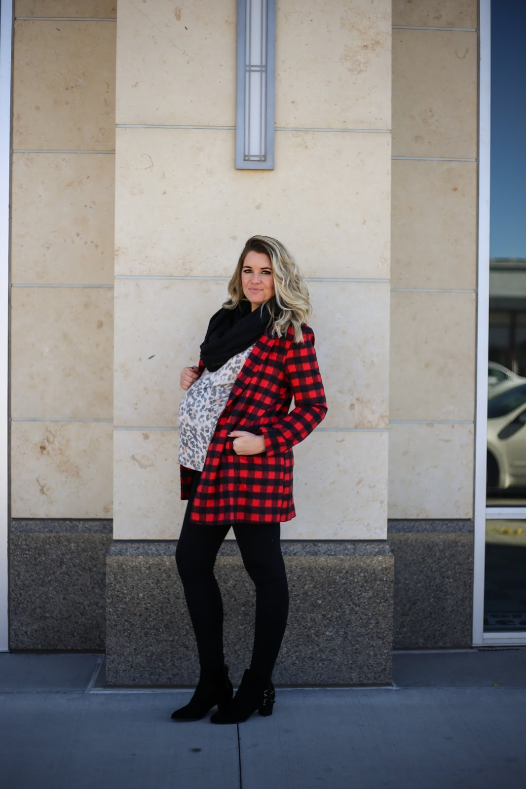 Plaid Coat, Leopard Print, Utah Fashion Blogger