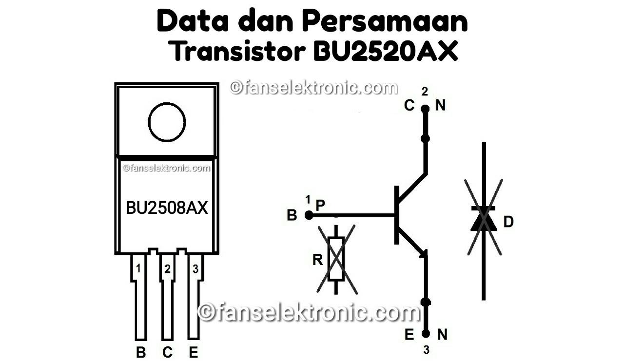 Persamaan Transistor BU2520AX