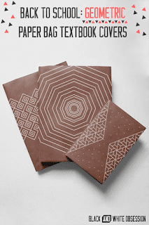 Copri agende o libri con disegni geometrici