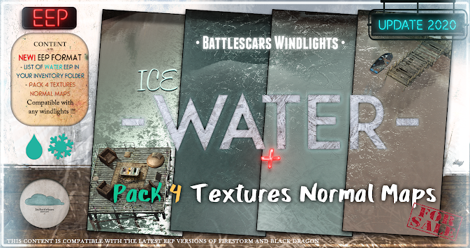 NEW RELEASE: Battlescars Windlights - WATER - ICE 1.0 (PREMIUM) EEP AND NORMAL FORMAT
