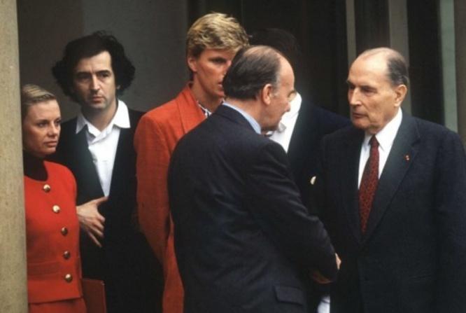 © Alija Izetbegovic  (FACELLY/SIPA)—Bernard-Henri Lévy à l'Elysée en 1993