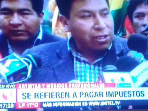 Artistas Tropicales Unidos declara persona no grata a Gonzalo Choquehuanca