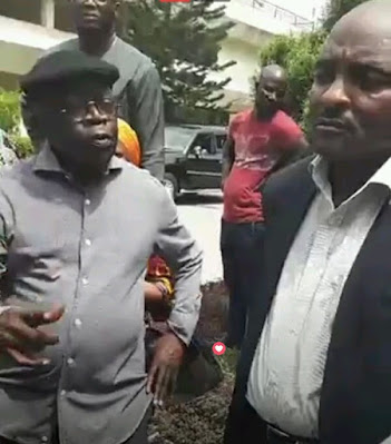 Throwback Photos Of Tinubu Addressing Protesters In 2017