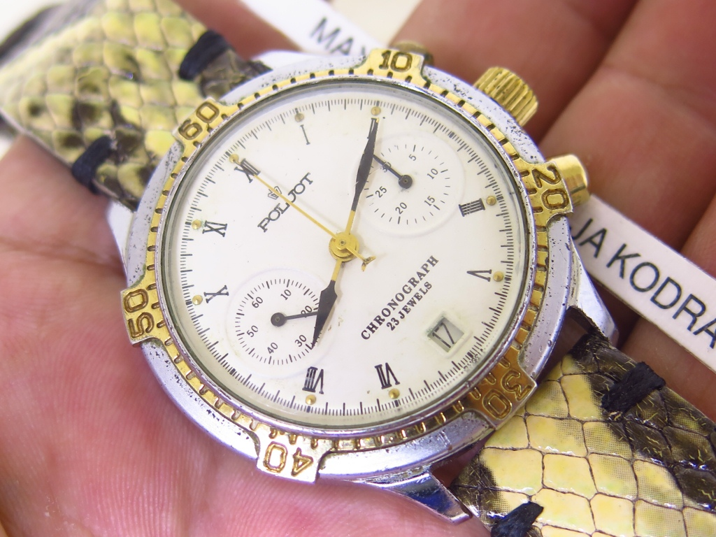 POLJOT CHRONOGRAPH WHITE DIAL - MANUAL WINDING CAL 31659