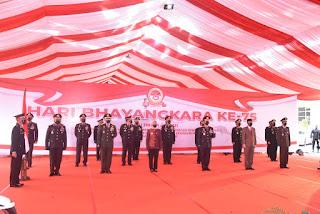 Pj Gubernur Jambi Menghadiri Hari Bhayangkara Ke-75 Di Mapolda Jambi.