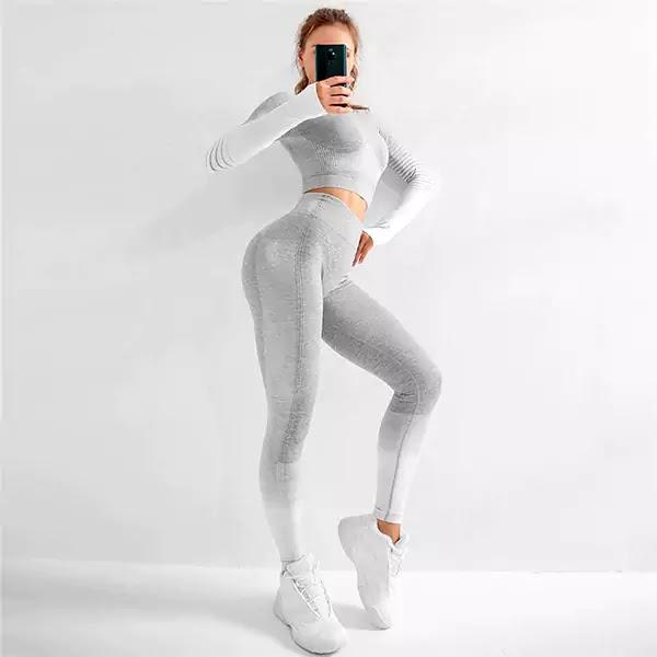 Long Sleeve Yoga Ombre Legging Sets