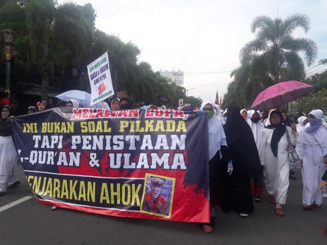 Ribuan Umat Islam Gelar Aksi 55 di Depan Kejaksaan Klaten