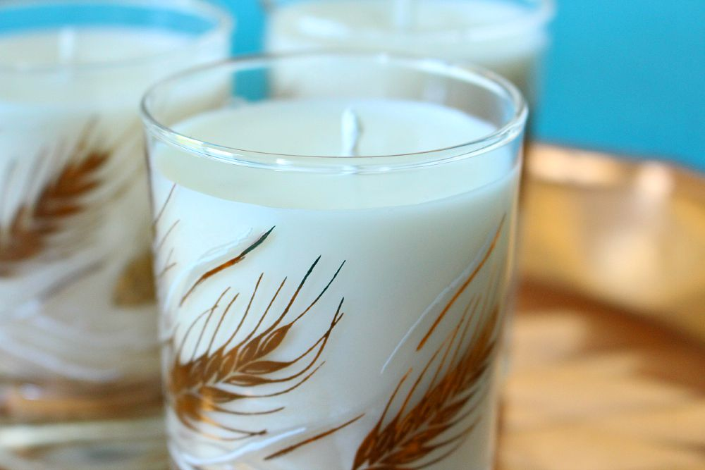 Gold wheat sheaf candles