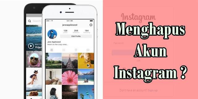 cara menghapus akun instagram (IG)