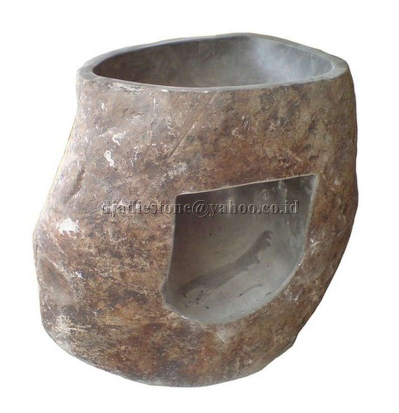 Pedestal Sink Natural Sink Java Natural Stone