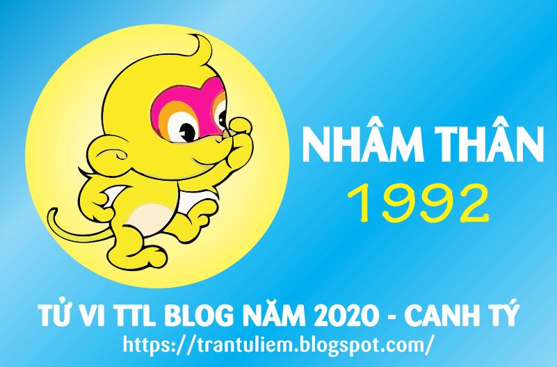 TỬ VI TUỔI NHÂM THÂN 1992 NĂM 2020 ( Canh Tý )
