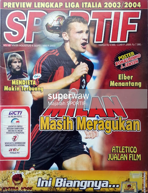 ANDRIY SHEVCHENKO AC MILAN FOOTBALL MAGAZINE COVER