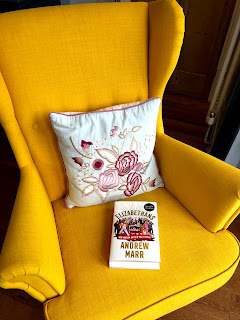 Andrew Marr's book, The Elizabethans on a yellow chair