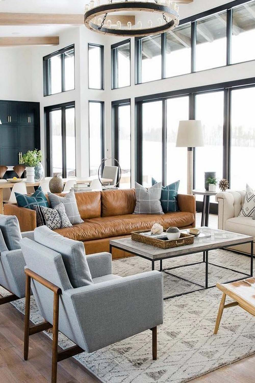 modern coastal farmhouse living room
