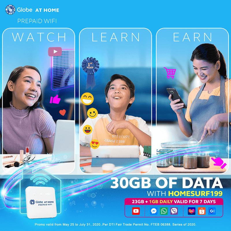 Globe's HomeSURF199 comes with extra 1GB data daily for work and more