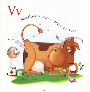 Veterinário veio e vacinou a vaca