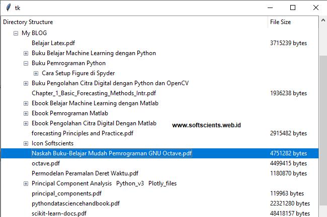 Buku Tips dan Trik Pemrograman Python -  Tree Folder dan File