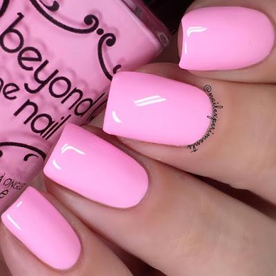 beyond the nail blazing blush swatch