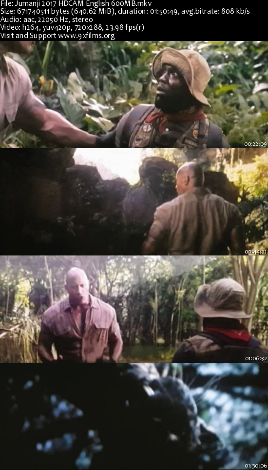 Jumanji 2017 HDCAM English 600mb