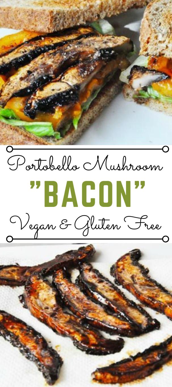 PORTOBELLO MUSHROOM BACON #bacon #vegan #vegetarian #mushroom #yummy