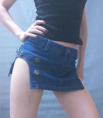 Micro mini skirt in night club