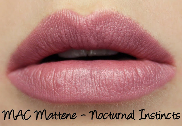 MAC MONDAY | Taste Temptation - Nocturnal Instincts Mattene Swatches & Review