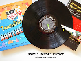 how to build a record player from everyday items (DIY tutorial)