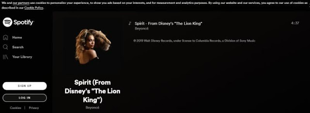 Single Baru Beyonce di Ost Film Lion King: Spirit