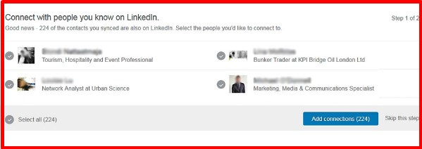 how to sync facebook contacts to linkedin