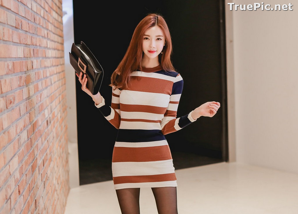 Image Korean Fashion Model – Hyemi – Office Dress Collection #2 - TruePic.net - Picture-9