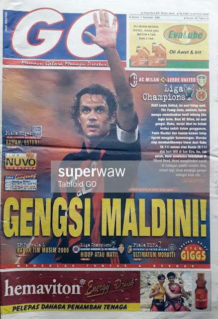 TABLOID GO TAHUN 2000 PAOLO MALDINI