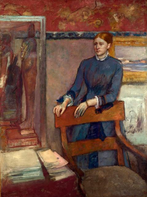 Эдгар Дега - Елена Руарт в мастерской своего отца (1886)