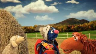 Super Grover 2.0 Farm sheep horse. super grover helps a sheep. Sesame Street Episode 4323 Max the Magician season 43