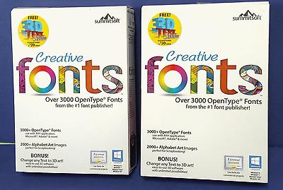 Summitsoft Creative Fonts 3D v10 Full mới nhất