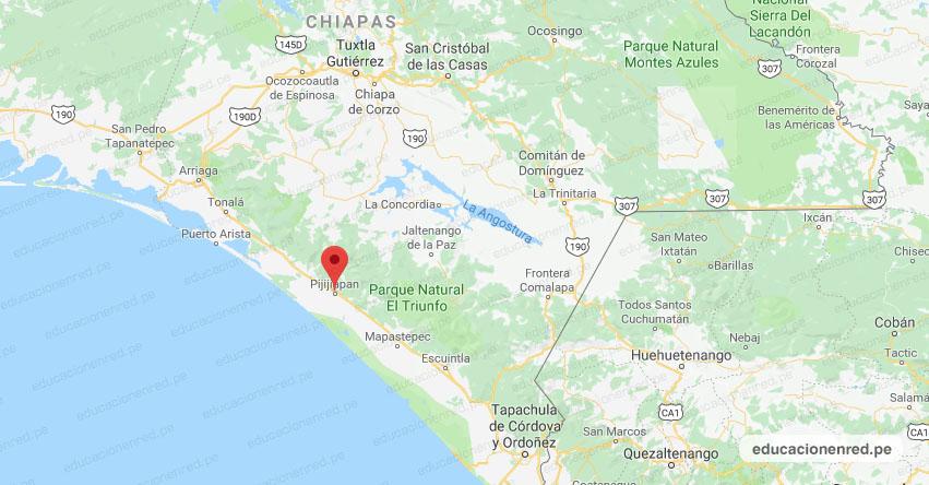 Temblor en México de Magnitud 4.7 (Hoy Sábado 27 Octubre 2018) Sismo Terremoto Epicentro - Pijijiapan - Chiapas - www.ssn.unam.mx