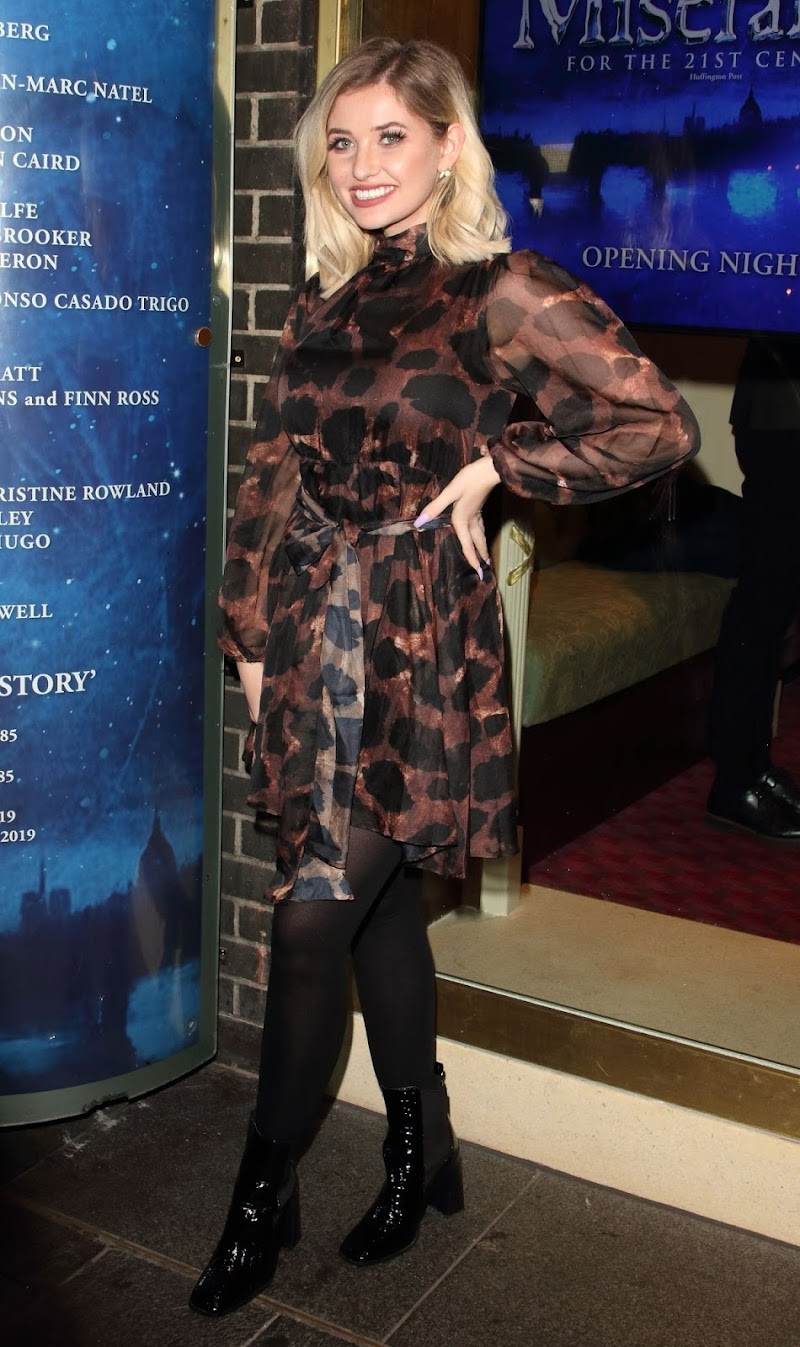 Amy Hart Clicks at Les Miserables Reopnening in London 16 Jan-2020