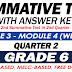 GRADE 6 SUMMATIVE TEST with Answer Key (Modules 3-4) 2ND QUARTER