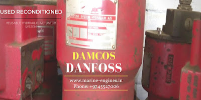 for sale, Damcos, Danfoss, Marine Hydraulic Actuator, used, second hand, reusable, ready, removed from ship