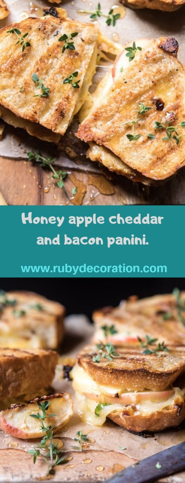 Honey apple cheddar and bacon panini.