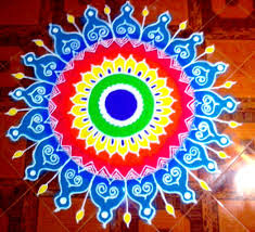 New year rangoli with dots
