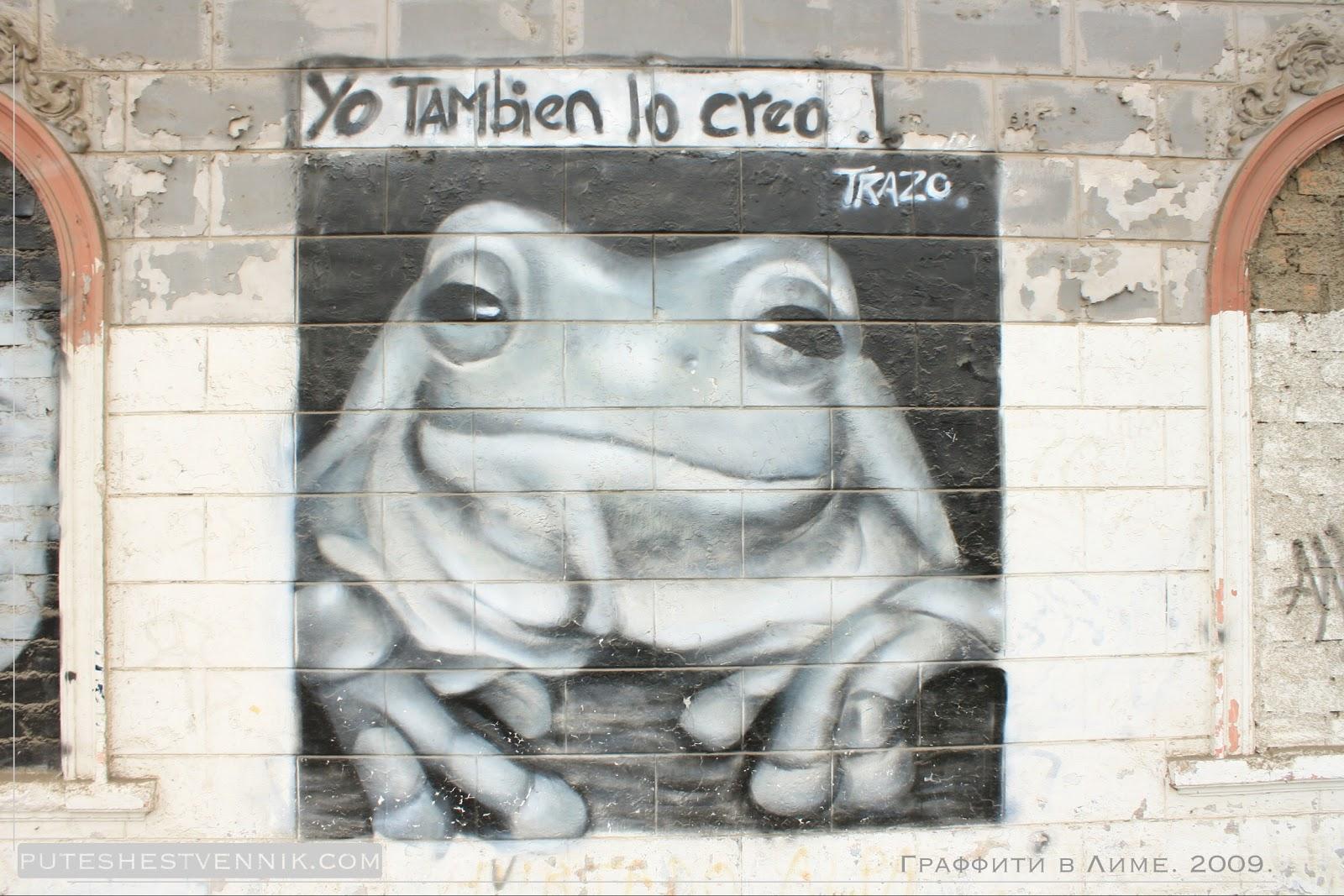 Граффити с лягушкой