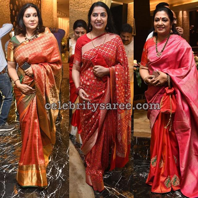 Celebrities at Jayasudha's Son Wedding Reception