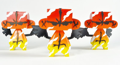 Fire Guardian MAD*L Custom Vinyl Figures by MAD