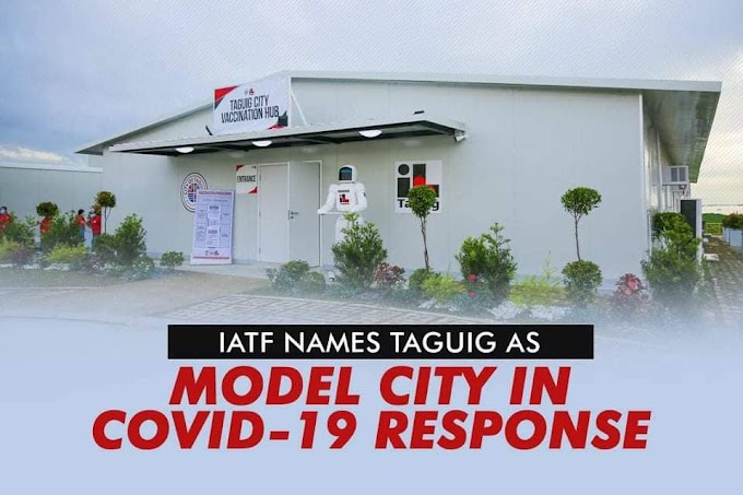 IATF names Taguig as Model City in COVID-19 response