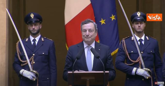 """Draghi: """"Ci avete emozionato e reso orgogliosi in nome dell'Italia"""""""
